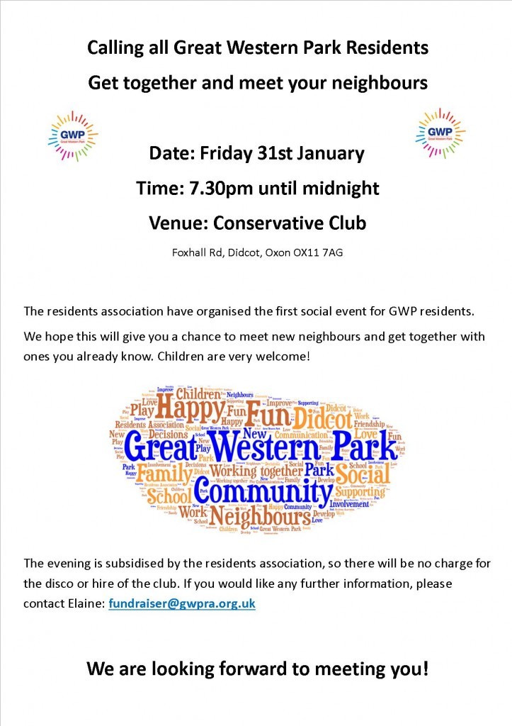 GWP Poster for 31st Jan 14