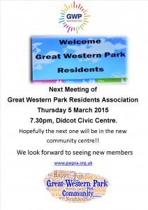 Next Meeting of GWP RA March 15